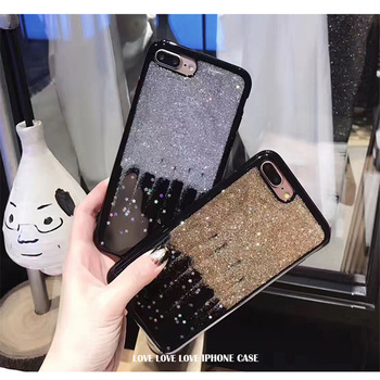 Glittering bright shiny star power for the iPhone 7 6 6S soft and soft fixed quicksand phone shell for iPhone 6 7 6S girl iPhone