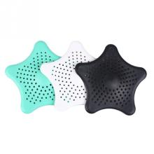 Fashion Star Shape Hair Catcher Rubber Bath Sink Strainer Shower Drain Cover Kitchen Bathroom  Basin