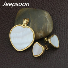 NEW  Stainless Steel Jewelry Gold Color  Pendant+Earrings Sets For women Supernova Sales SEUFAABC