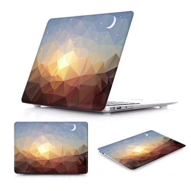 Novo caso para macbook air 13 incrível luxo cristal irregular padrão ar 11 12 capa dura para macbook pro retina 13 15 caso