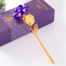 24K Gold Foil Rose Simulation Gift Wedding Decoration Flower Valentines Day Artificial Lover