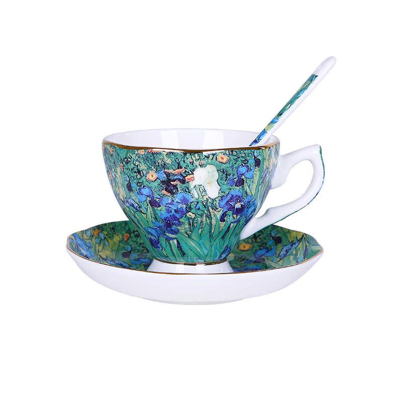 Europeu Osso Real China Jogo de Café de Cerâmica xícara de Água Xícara de Café de Alta Qualidade do Agregado Familiar com o Inglês Chá Da Tarde Xícara de Chá conjunto