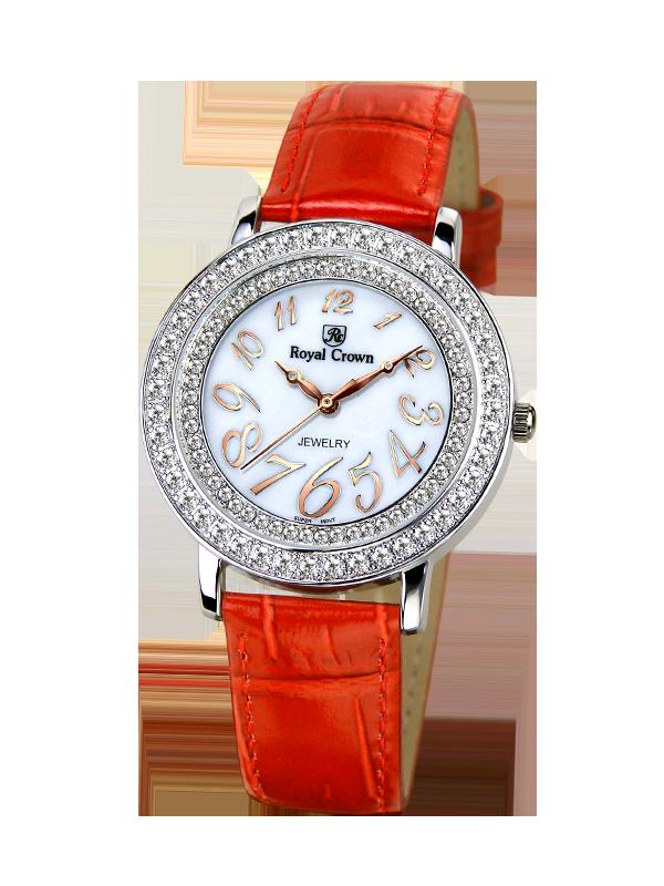 Фото Royal Crown Jewelry Watch 3632 Italy brand Diamond Japan MIYOTA platinum Large Lady Women