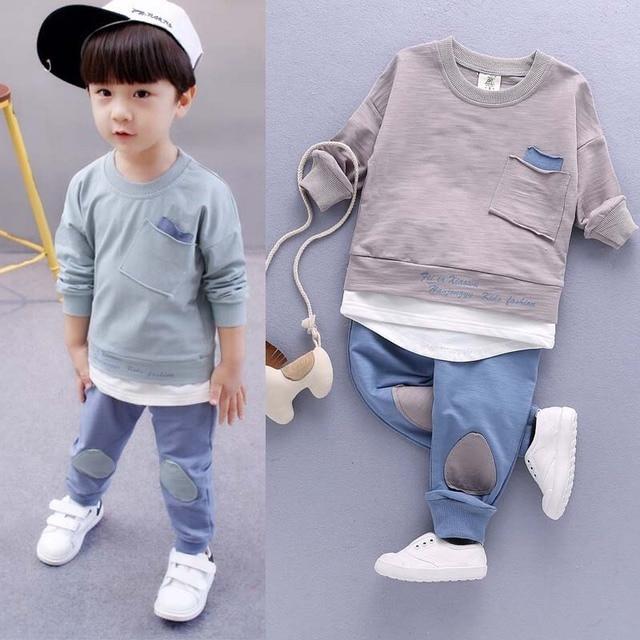 654d0fadd1129 Boys Set Children Clothing Set 2018 Spring Autumn Boy Outfit Sports Suit Set  Baby's Sets Children's Kids 1-3T Child Suit Clothes