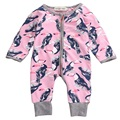 Bebê recém-nascido meninos meninas Papagaio Zipper Up Macacão Infantil Bebês Menino Da Menina do Algodão Bonito Romper one-pieces Outfits Crianças roupas