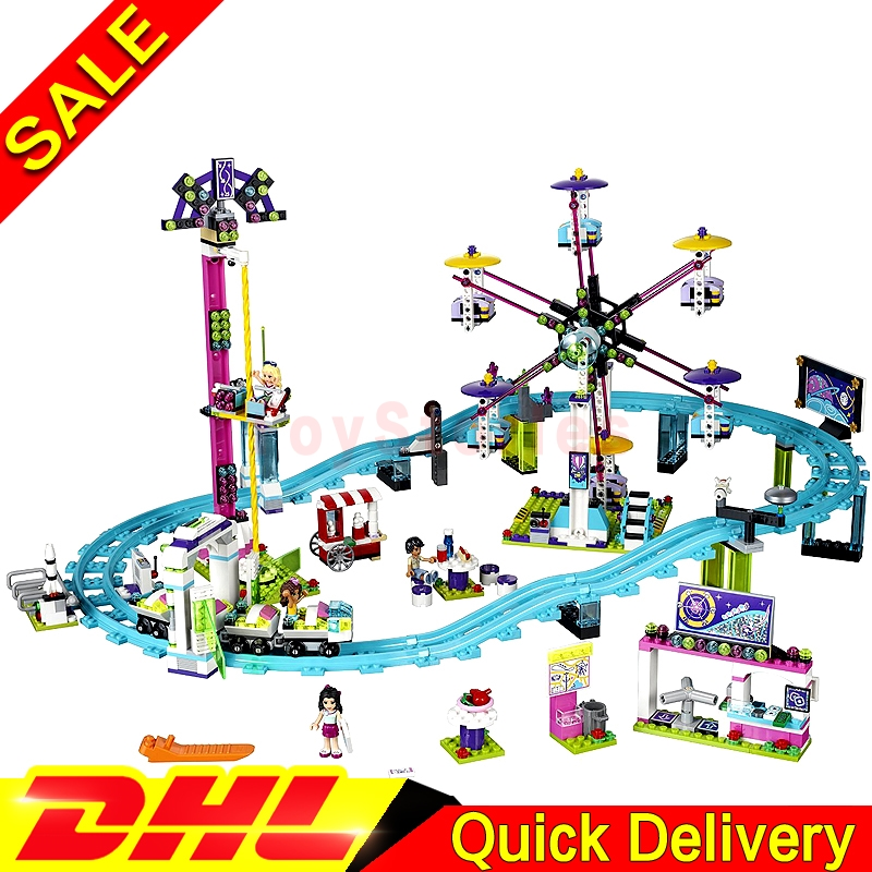 LEPIN 01008 1124Pcs Amusement Park Coaster Building Kits Girl Blocks Bricks legoings Toys Friends Clone 4113 2016 new lepin 01008 1124pcs amusement park coaster building kits girl friend blocks bricks toys compatible gift 4113