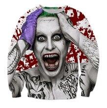 Las mujeres de Los Hombres Streetwear Comando Suicida Sudadera impresión 3D Harley Quinn Joker extraño personaje Jerséis Con Capucha Sudaderas Hombre