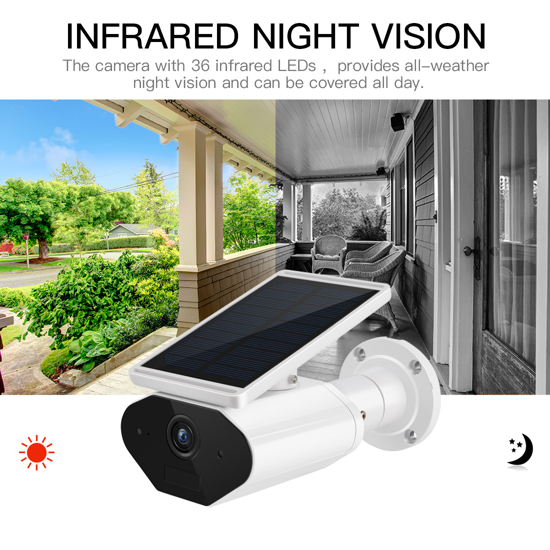 Image 4 - FREDI 1080P Solar Low Power Wireless IP Camera WiFi Waterproof Security Bullet Camera IR Night Vision Surveillance CCTV Camera-in Surveillance Cameras from Security & Protection