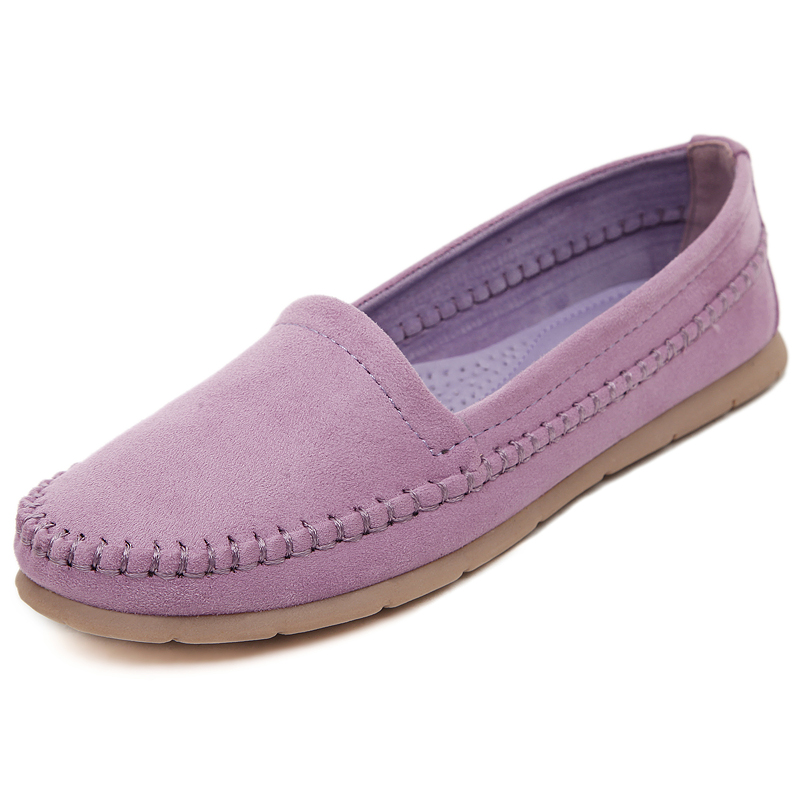 ФОТО New Arrival 2016 Spring and Autumn Handmade Loafers Women Flats Shoes Soft Comfortable Fashion Womens Flats Hot Sale Slip On