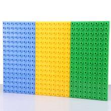 Big Bricks Baseplate 25.5*12.5cm 16*8 Dots Base Plate Compatible with Big Bricks Kids Educational Brick DIY Toy Blocks Plate(China (Mainland))