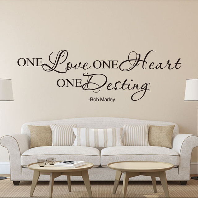 6020CM PS One Love Wall Art Decal Home Famous Quote Removable Room Living