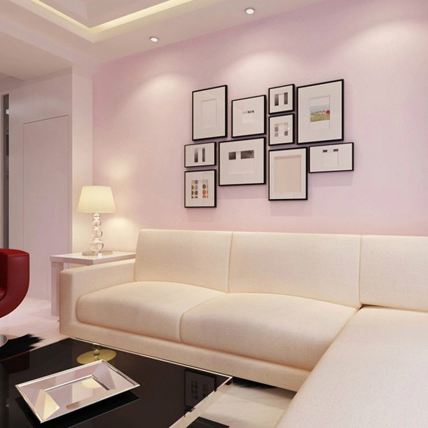 Compare prices on plain pink background online shopping for Pink living room wallpaper