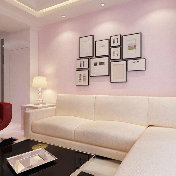 Vlakte roze behang warme woonkamer slaapkamer behang achtergrond ...