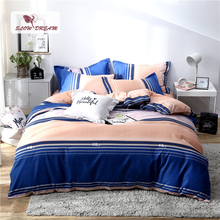 Slowdream Reactive Printing Bedspread Flat Sheet Pillowcase Geometry Duvet Cover Set Quilt Decor Bedclothes Home Textiles