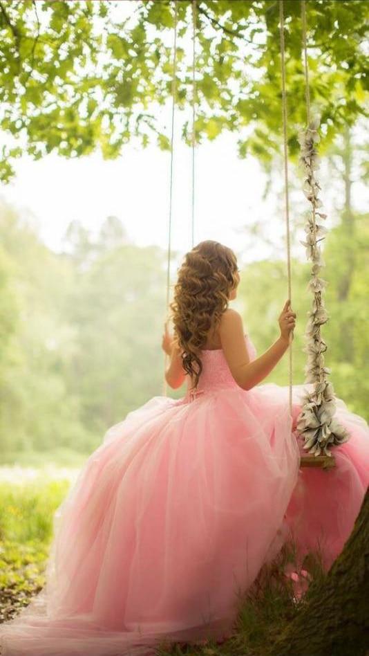 Pink Quinceanera Dresses Orange Ball Gown Sweetheart Tulle Beaded Vestidos De 15 Anos Backless Floor Length Robe De Bal Elegant - 3