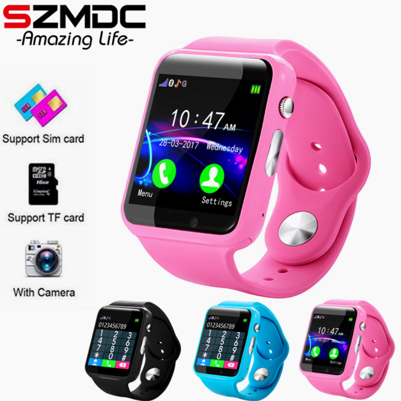 Free Shipping A1 Plus Wristwatch Bluetooth Smart Watch Sport Pedometer With SIM Camera Smartwatch For Android Smartphone Russia