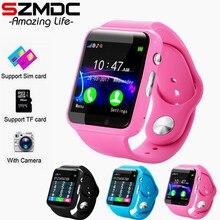 Купить с кэшбэком Free Shipping A1 Plus WristWatch Bluetooth Smart Watch Sport Pedometer with SIM Camera Smartwatch For Android Smartphone Russia