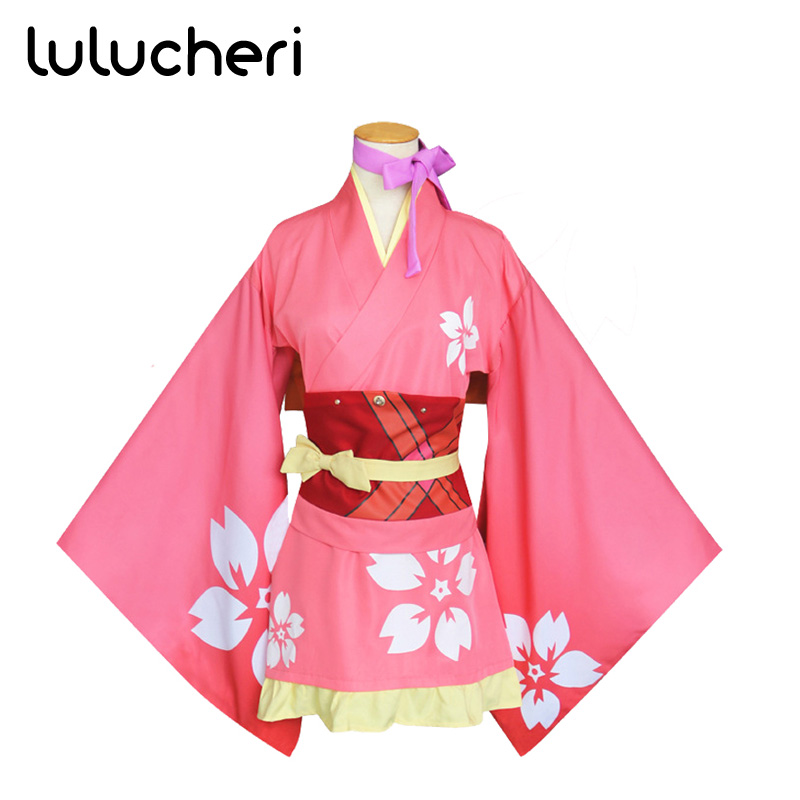 Anime Kabaneri Of The Iron Fortress Mumei Japanese Kimono Cosplay Costume Halloween Party Uniforms Full Set