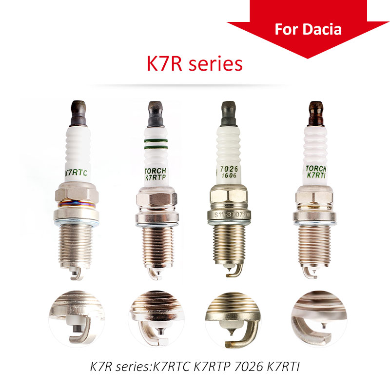 4pcs/lot China original TORCH Iridium spark plugs K7R Series for Dacia