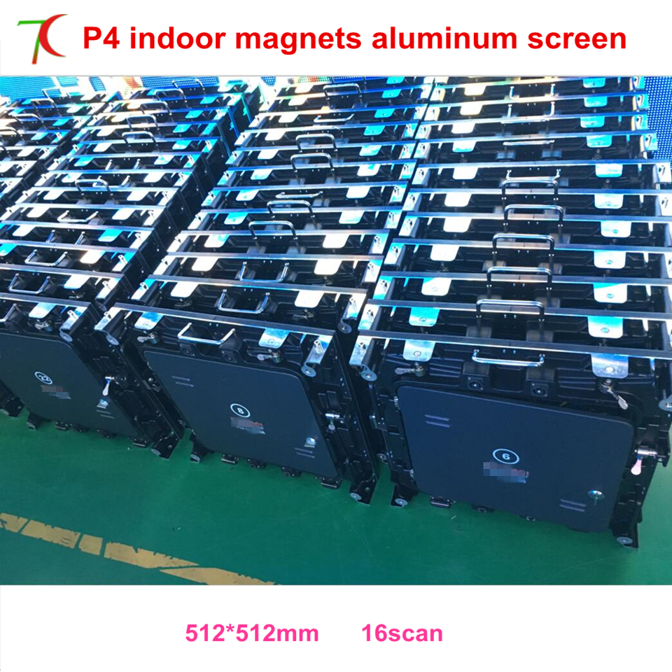 P4 Indoor 512mm*512mm Magnets Fix Front Mainterance Die-casting Aluminum Screen For Rental Business, Nationstar Lamps ,MBI5124