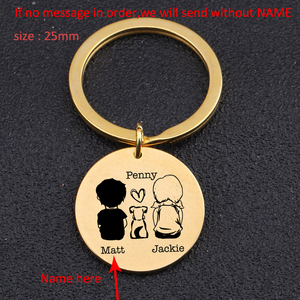Fashion Lovers' Keychain Personalized Custom Name For Dog Lovers Boyfriend Girlfriend Trendy Gift Holder Key Tag