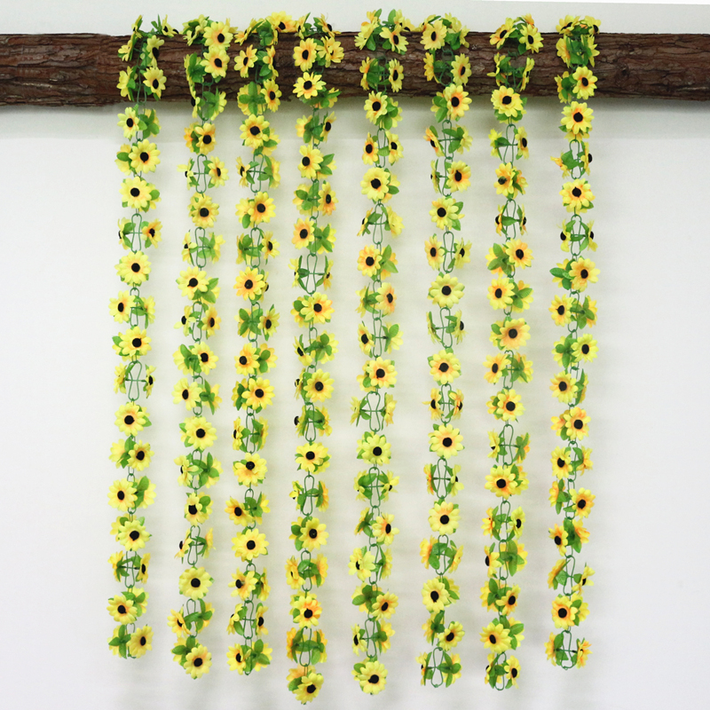 artificial flowers simulation flower cane wholesale Sunflower cane Sunflower cane home flowers decoration (2)