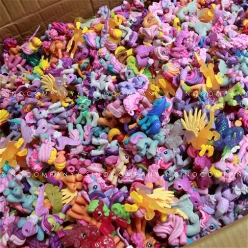 10pcs 6cm Rainbow Horse My Cute Pvc Unicorn Little Ponis Horse Action Toy Figures Dolls For Girl Birthday Xmas Gift Random