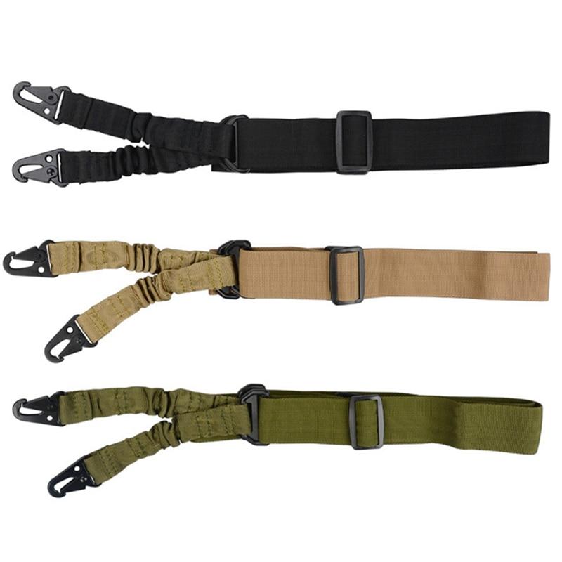 Tactical 2 Point Gun Sling Shoulder Hiking Strap Rifle QD Metal Buckle Gun Belt