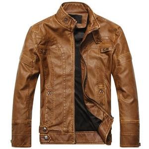 Image 3 - חדש מגיע מותג אופנוע עור מעיל גברים גברים של עור מעילי jaqueta דה couro masculina mens עור מעילים