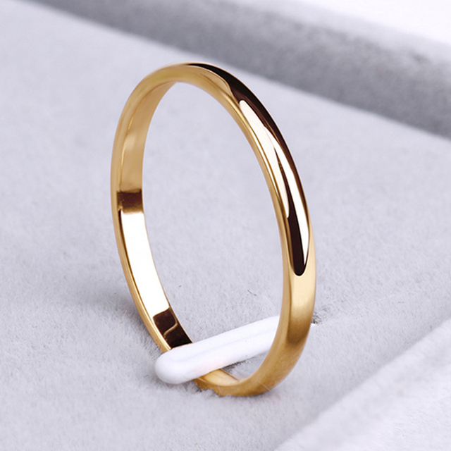 CACANA Stainless Steel Rings Rose Gold Anti-allergy Smooth Simple personalized custom Wedding Couples Rings Bijouterie 1