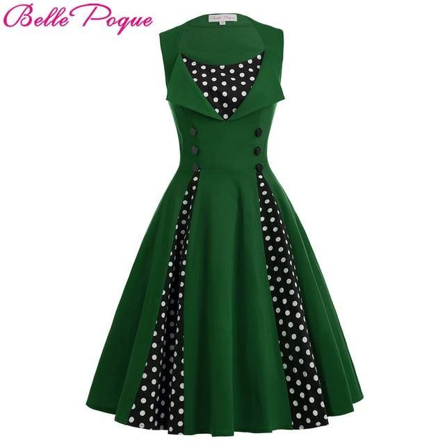 vintage jurk groen