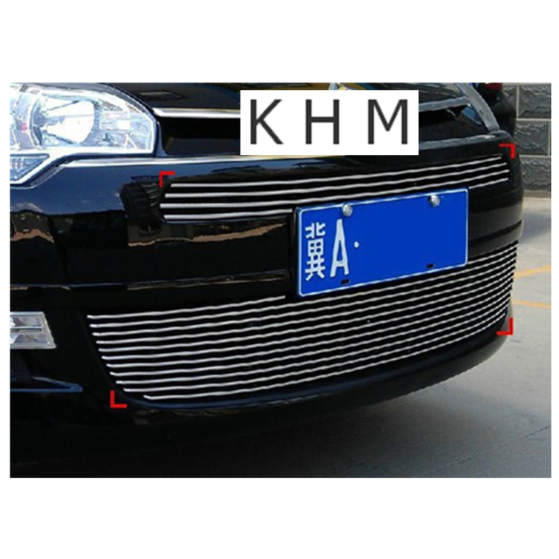 High quality stainless steel Front Grille Around Trim Racing Grills Trim For 2010-2012 Citroen C5 abs chrome front grille around trim for ford s max smax 2007 2010 2011 2012