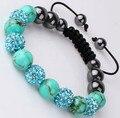 Free shipping! mgc hot micro pave CZ Disco Ball Beads Crystal Shamballa Bracelet fasion  Gift jewelry Discount.