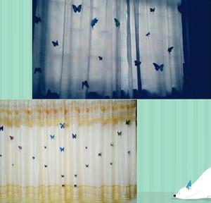 Image 4 - 12pcs PVC 3d Vlinder Decor Leuke Vlinders Gordijn Decals Home Decoration Room Gordijn Decortaion Art Gebruik Pin Fasten