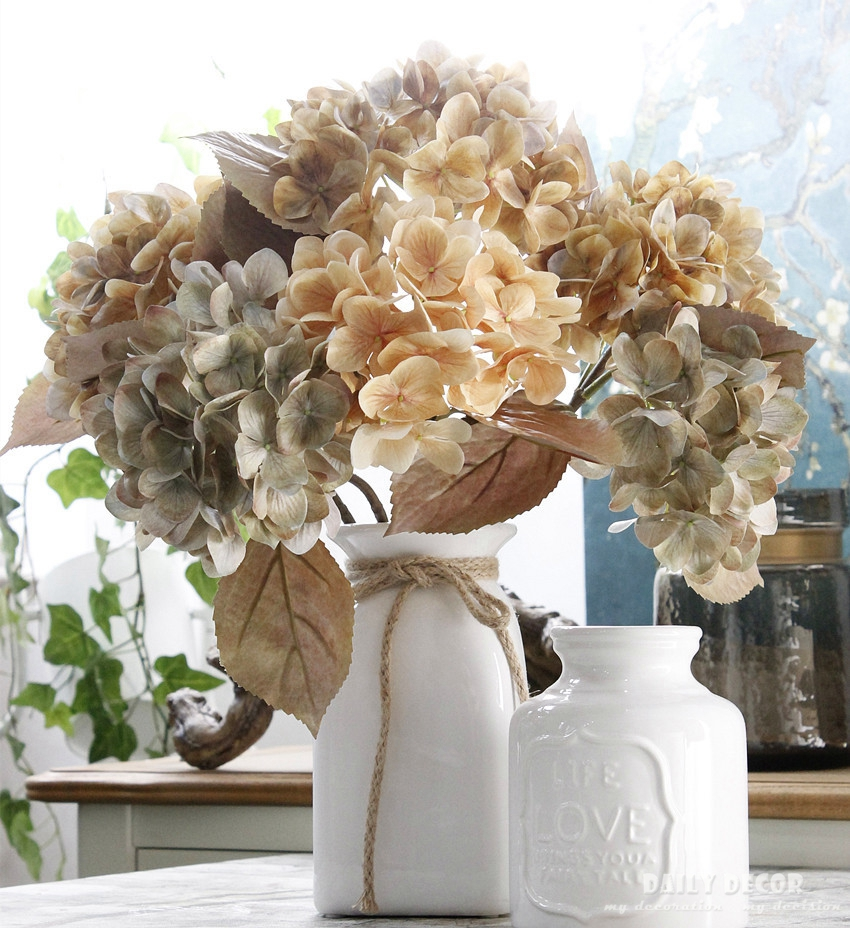 3d Hi Q Artificial Hydrangea Wholesale High Simulation Silk Flowers