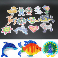 9 Piece Lot 5mm Hama Beads Template With Colore Paper Plastic Stencil Jigsaw Perler Beads Diy
