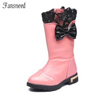 2016Autumn And Winter Female Child Boots Children Shoes Child Cotton Padded Shoes Snow Boots High Boots