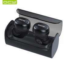 QCY Q29 TWS business bluetooth V4.1 earbuds stereo headset wireless in-ear earphone gamer with mic handsfree and QCY storage box(China)