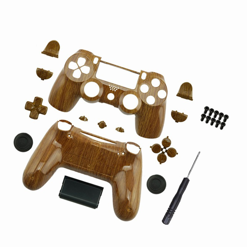 Custom For PS4 Controller Hydro Dipped Wood grain Shell Mod