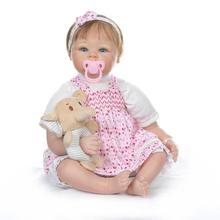22inch 55cm Doll Reborn Babies Silicone Baby Dolls Bebe Corpo de inteiro Realista Bonecas Juguetes Gifts
