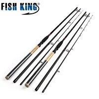 السمك الملك تغذية عالية الكربون فائقة القوة 3 أقسام 3.6 متر 3.9 متر إغراء الوزن 40-120 جرام المغذية قصبة الصيد المغذية
