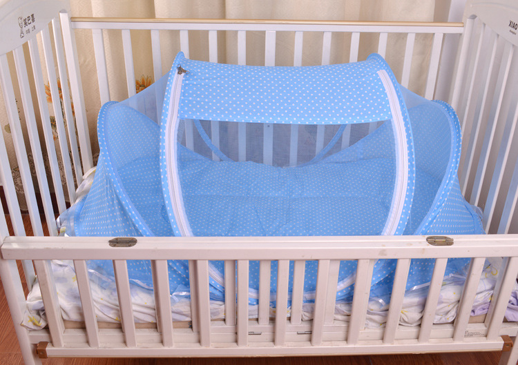 Foldable New Baby Crib 0-3 Years Baby Bed With Pillow Mat Set Portable Folding Crib With Netting Newborn Sleep Travel Bed Newest12