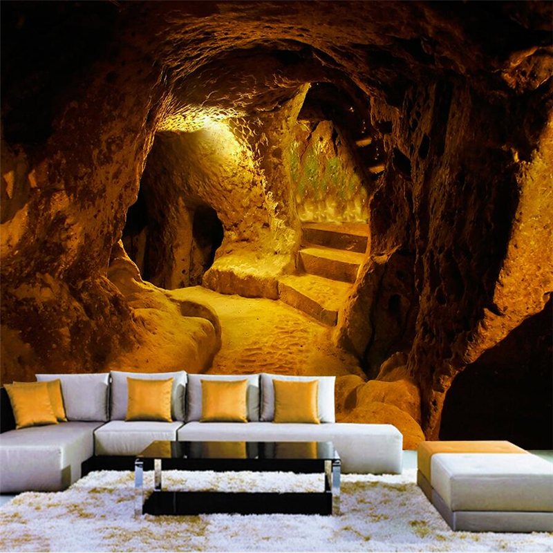 beibehang papel de parede Original Cave stone cave 3d three D large-scale background wall wall papers home decor wall paper forest cave print tapestry wall hanging decor
