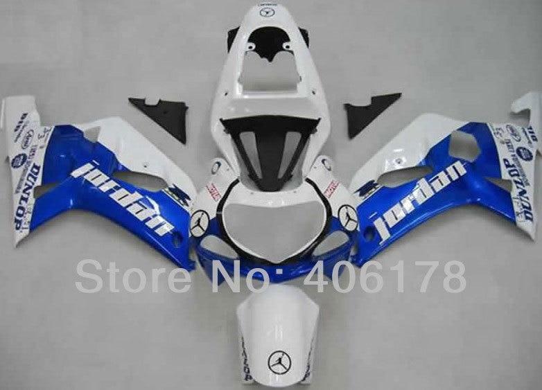 Offres spéciales, k1 gsxr600/750 01 02 03 Carénage Pour Suzuki GSXR600 GSXR750 2001 2002 2003 Jordanie Moto carénage (moulage par Injection)