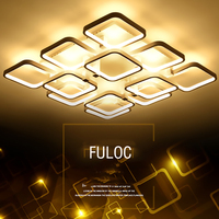 FULOC Remote Dimmer Led Modern Ceiling Lights For Bedroom Led Ceiling Light Plafonnier Led Telecommande