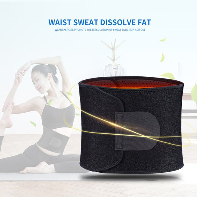 Adjustable Waist Tummy Trimmer Slimming Sweat Belt Fat Burner Body Shaper Wrap Band Weight Loss Burn Exercise quemador de grasa 1