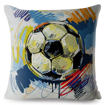 Watercolour Football  Pillow Cover  2