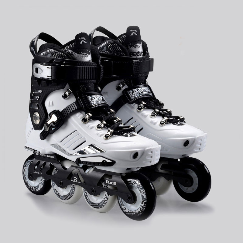 2015 Comfortable French Road Show RX5 Adult Inline Skating Shoes/<font><b>Roller</b></font> Patins/ Patins Adulto /Ice Hockey Skates Size EU35-44