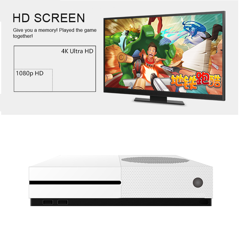 HD TV Game Consoles 4GB Video Game Console Support HDMI TV Out Built-In 600 Classic Games For GBA/SNES/SMD/NES Format+TF Card