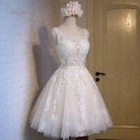 Dream Angel Elegant Scoop Neck Knee Length Homecoming Dresses 2017 Appliques Lace Short Vintage Special Occasion